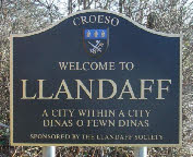 The old Llandaff sign, now removed